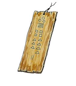 カイダージ(象形文字)の板札
